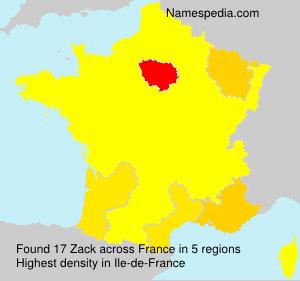 Surname Zack in France