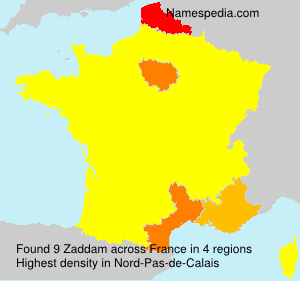 Surname Zaddam in France