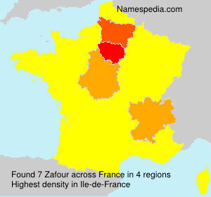 Surname Zafour in France