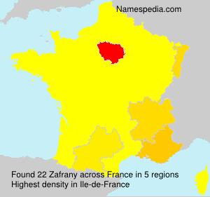 Surname Zafrany in France