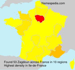 Surname Zagdoun in France
