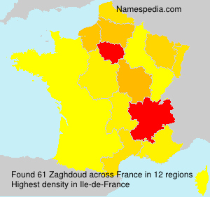 Surname Zaghdoud in France