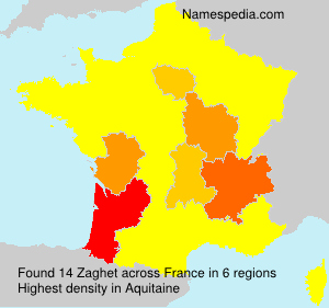 Surname Zaghet in France