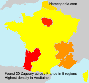 Surname Zagoury in France