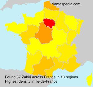 Familiennamen Zahiri - France