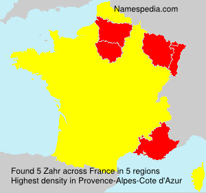 Surname Zahr in France