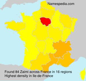 Surname Zaimi in France