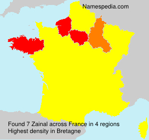 Surname Zainal in France