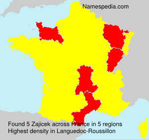 Surname Zajicek in France