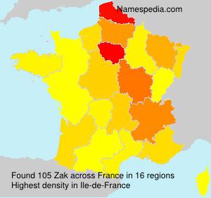 Surname Zak in France