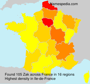 Familiennamen Zak - France