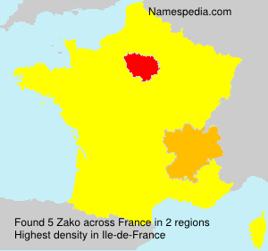 Familiennamen Zako - France