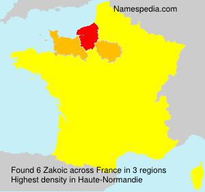 Surname Zakoic in France