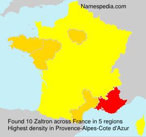 Familiennamen Zaltron - France