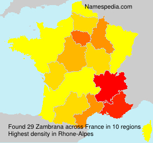 Surname Zambrana in France