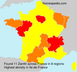 Surname Zamfir in France