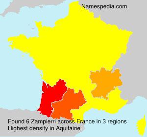 Familiennamen Zampierri - France