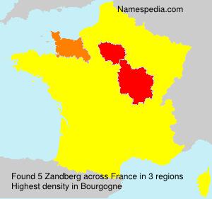 Surname Zandberg in France