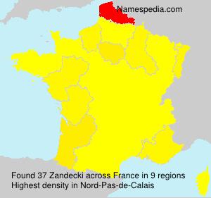 Familiennamen Zandecki - France