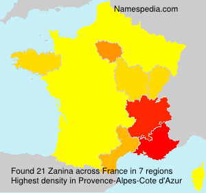 Surname Zanina in France