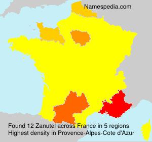 Surname Zanutel in France