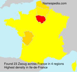 Surname Zaoug in France