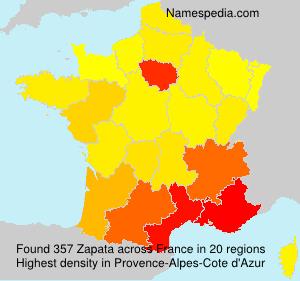 Familiennamen Zapata - France