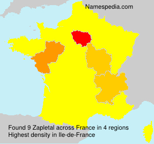 Surname Zapletal in France