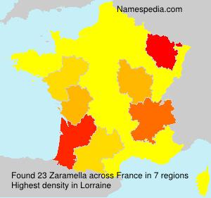 Surname Zaramella in France