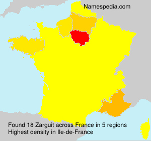 Surname Zarguit in France