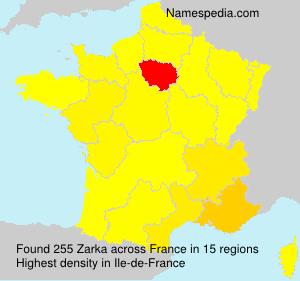 Surname Zarka in France