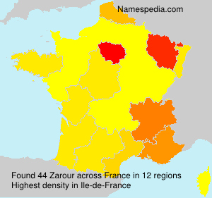 Surname Zarour in France