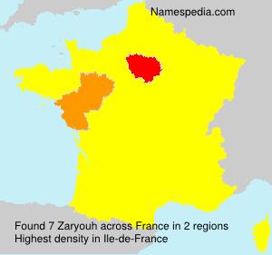 Familiennamen Zaryouh - France
