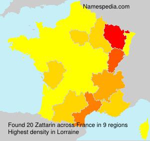 Surname Zattarin in France