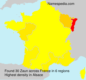 Surname Zaun in France