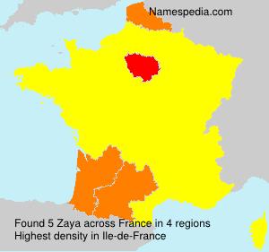 Familiennamen Zaya - France