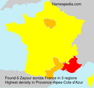 Surname Zayour in France