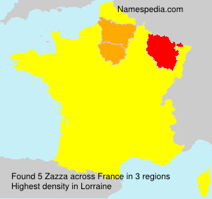 Surname Zazza in France