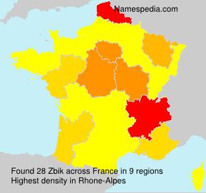 Surname Zbik in France