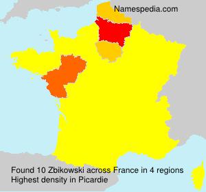 Familiennamen Zbikowski - France