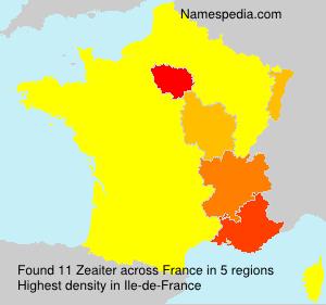 Surname Zeaiter in France