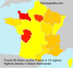 Surname Zearo in France