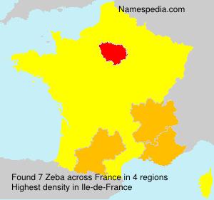 Surname Zeba in France