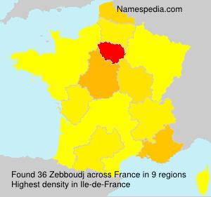 Surname Zebboudj in France