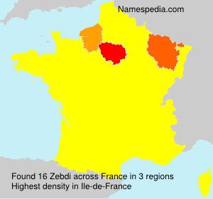 Surname Zebdi in France
