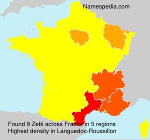 Surname Zebi in France