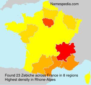 Familiennamen Zebiche - France