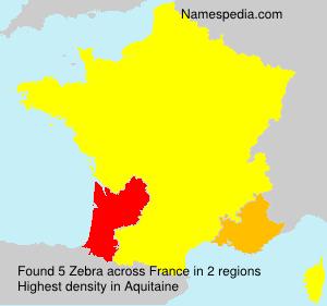 Surname Zebra in France