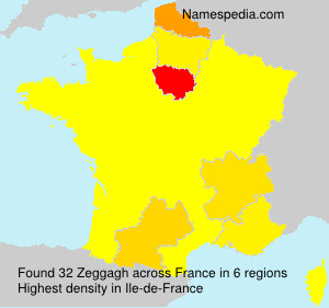 Surname Zeggagh in France