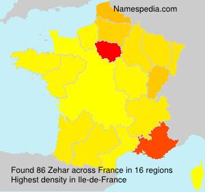 Surname Zehar in France